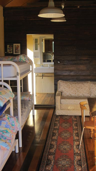 Rustic and fun the bunkhouse sleeps four children and two adults