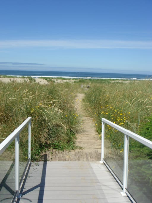 Private path from your deck through the dunes to the ocean.