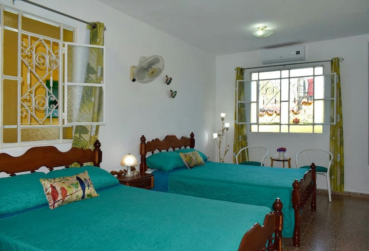 Villa mariposa 2minutes from the centre/wifi/clean