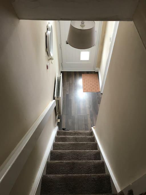 Small hallway to front door