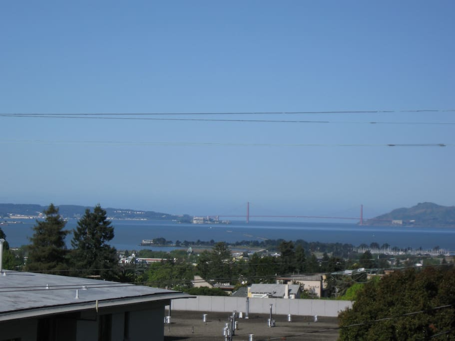 Looking out to the Golden Gate Bridge and wonderful Marin sunsets