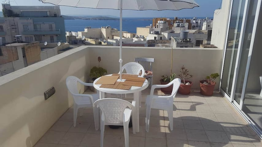Prestigious Sea-view Penthouse P1 - San Pawl il-Baħar - Daire