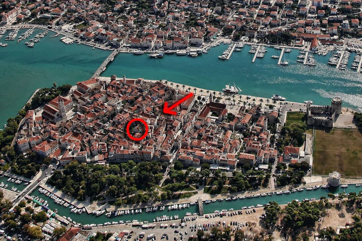 Our apartment, right in the center of old Town Trogir.