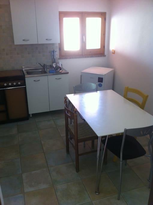 Cucina Appartamento con veranda