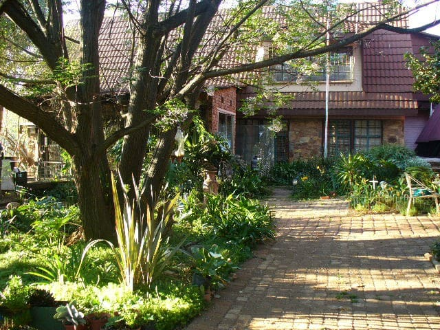 Private garden Outside Braai