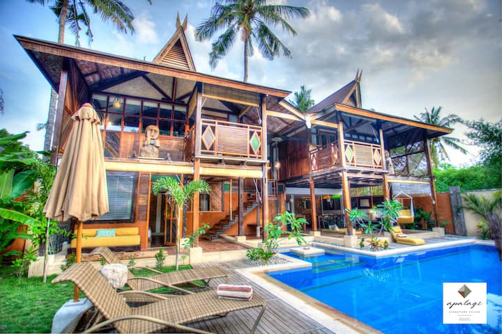APALAGI luxury 3BR villa private pool GILI AIR