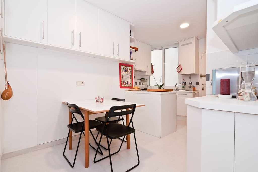Kitchen: cook, do the laundry (washer & dryer machine)...
