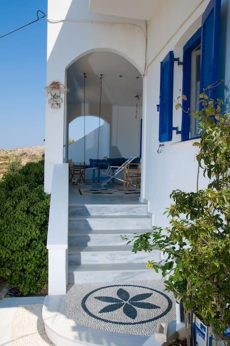 The entrance of the villa.