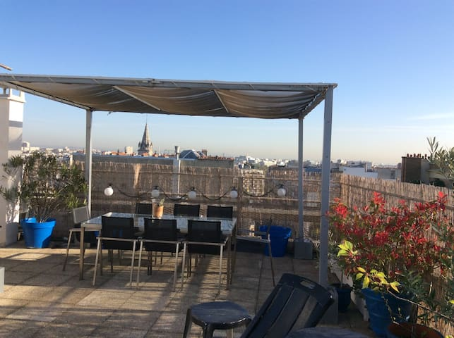 Very nice flat with 110m° terrace all over Paris !