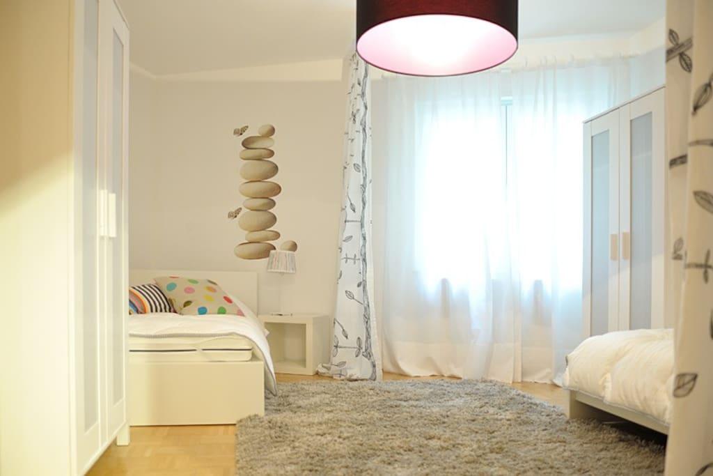 Blick in das Doppelzimmer