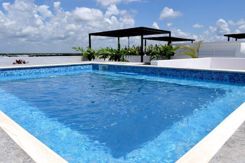 MODERN Private Suite w/POOL Playa Del Carmen - 408