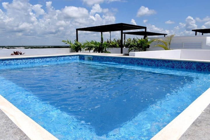 MODERN Private Suite w/POOL Playa Del Carmen - 408