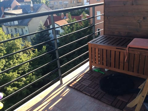 Room in a stylish flat near the Buda hills