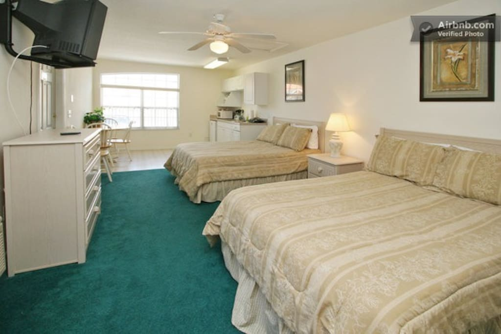 Two VERY COMFORTABLE full sized (double) beds with temperpedic toppers.