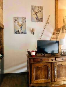 Studio mezzanine chaleureux Morillon les Esserts