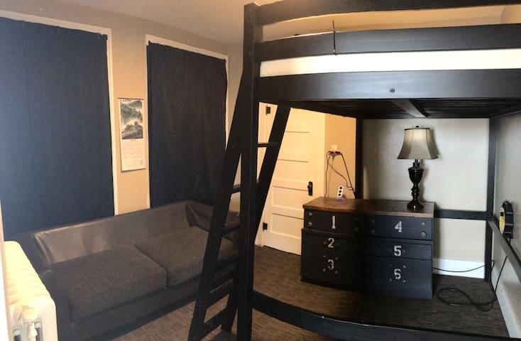 Uptown Madison Queen Loft Bed