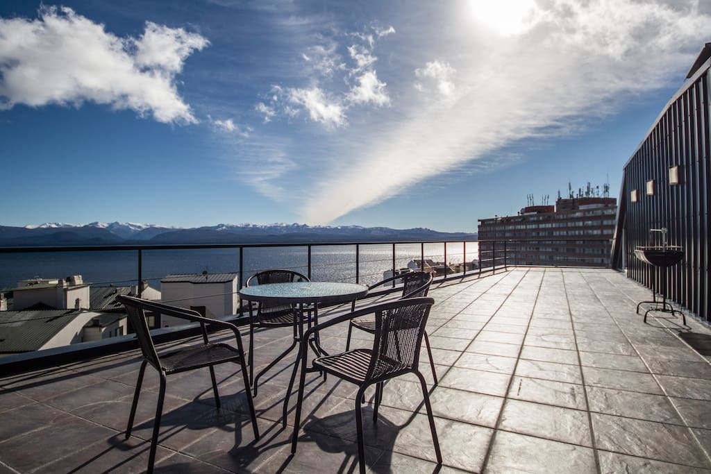 espectacular terraza con vista flats for rent in san