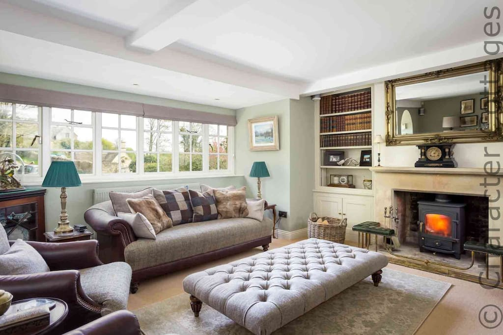 The spacious and stunning living room