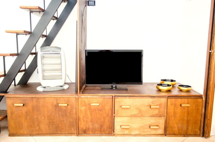 TV and living room