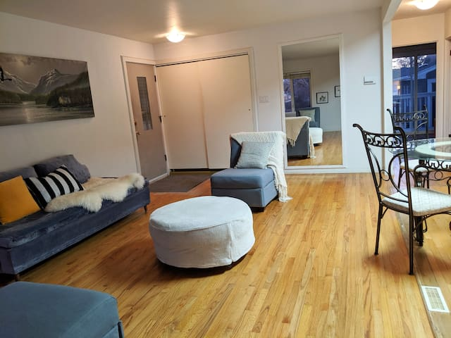 Next to C-train station two bedroom suite