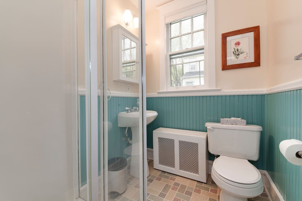 bathroom is right next to your bedroom