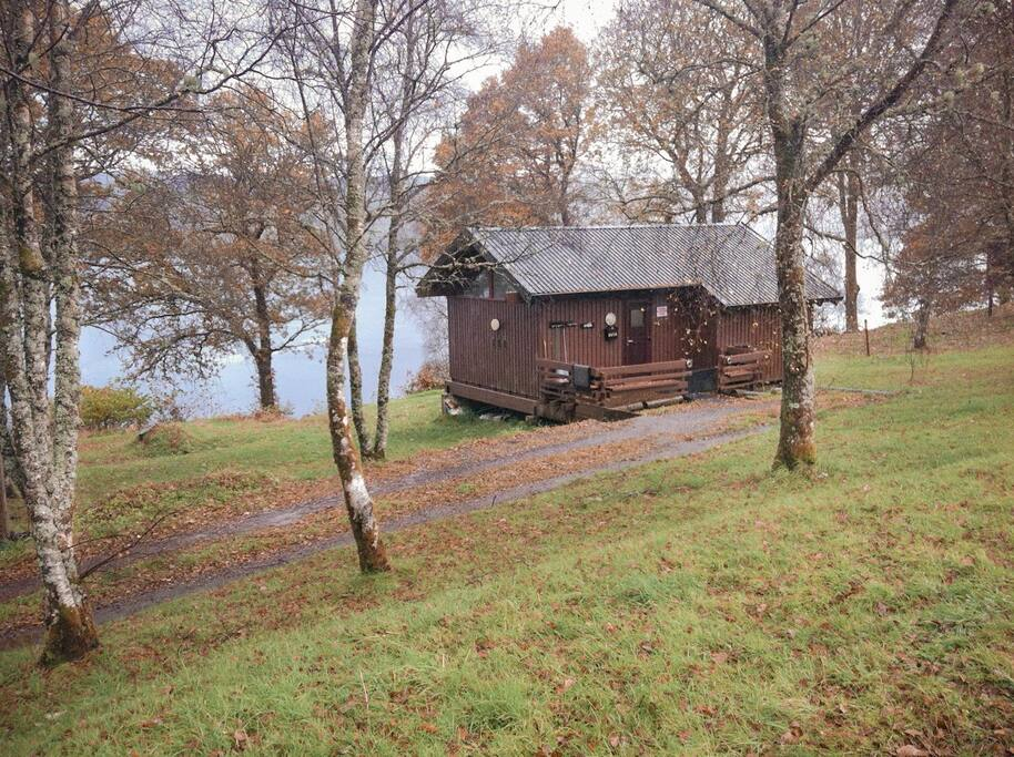 The cabin overlooking Loch Awe