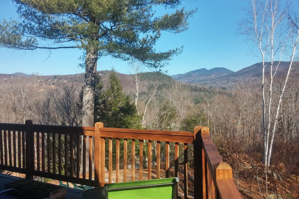 Mountain views from log cabin dream houses for rent in for Ski cabins in new hampshire