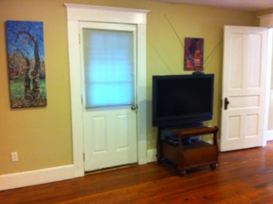 Downstairs: Shared common area with 42 inch TV and DVD player