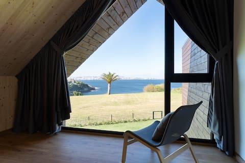 Cabaña ecológica Espiñeiro con vistas al mar