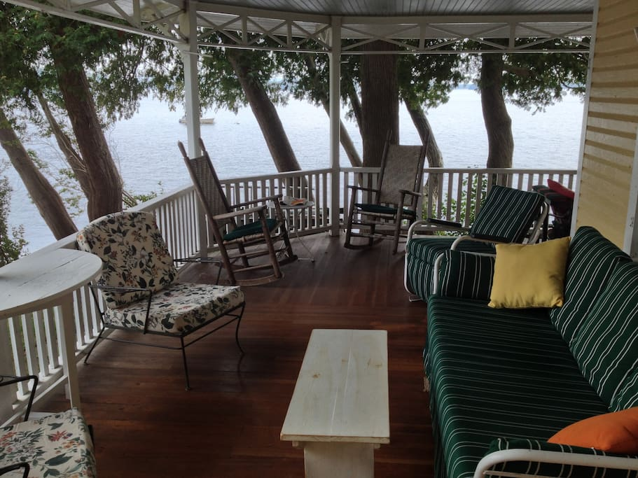 The wrap-around porch is a place to gather.