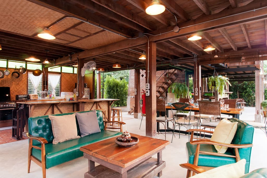 Our Northern Thai Traditional living space. Make yourself comfortable like your own home.