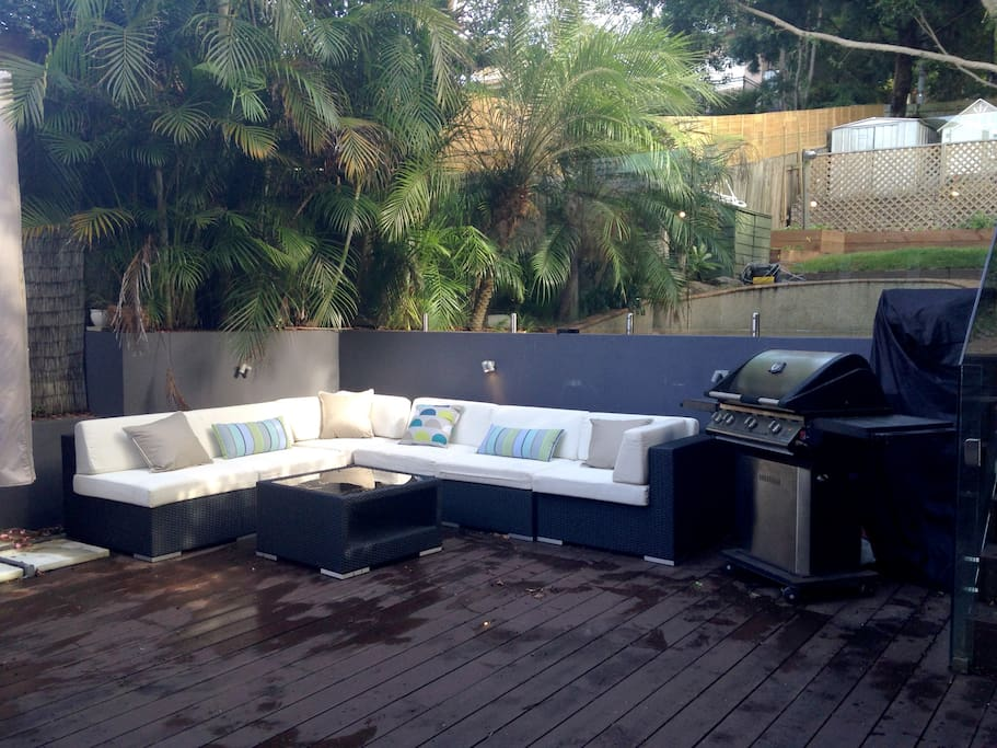 Private outdoor entertaining area.