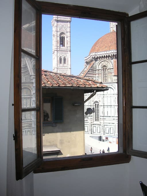 main bedroom view on the Campanile di Giotto