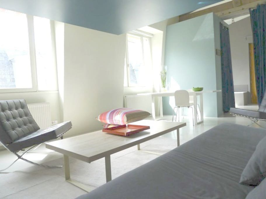 Rare central design loft lofts louer paris le de france france - Achat loft ile de france ...