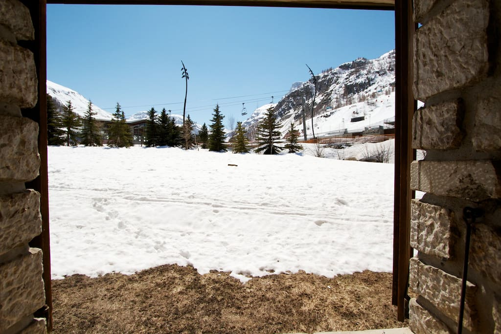 View from he studio and ski in and out