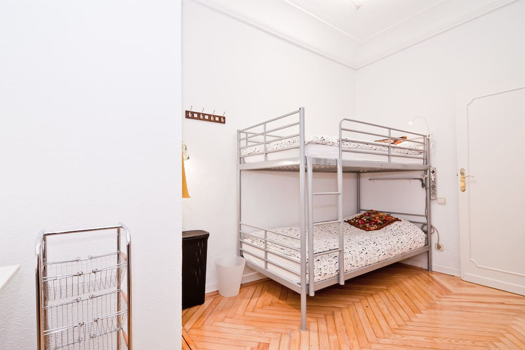 Room B: spacious bedroom with big closet and lots of natural sunlight. Bed linen included.