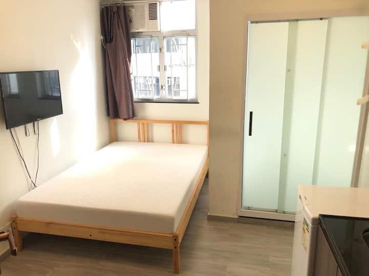 A 2ppl Double Bed PochiStudio 2min CausewayBay MTR