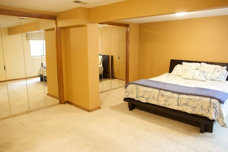 Downstairs Huge, Bedroom with private bathroom