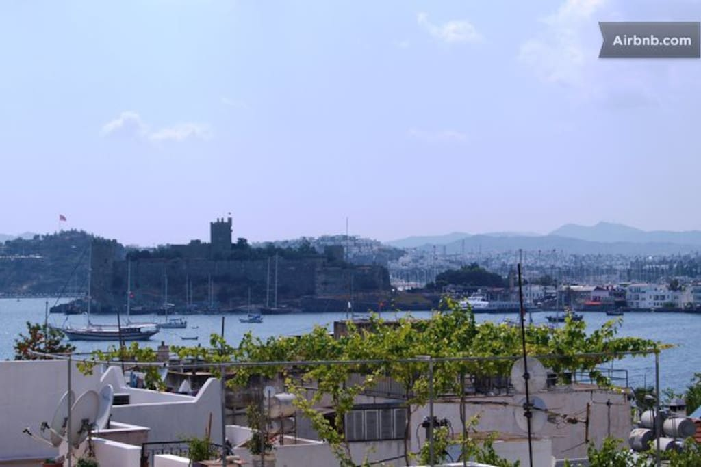 Bodrum Castle view from the terrace