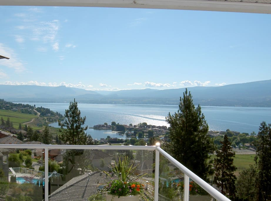 View of Okanagan Lake from the patio...