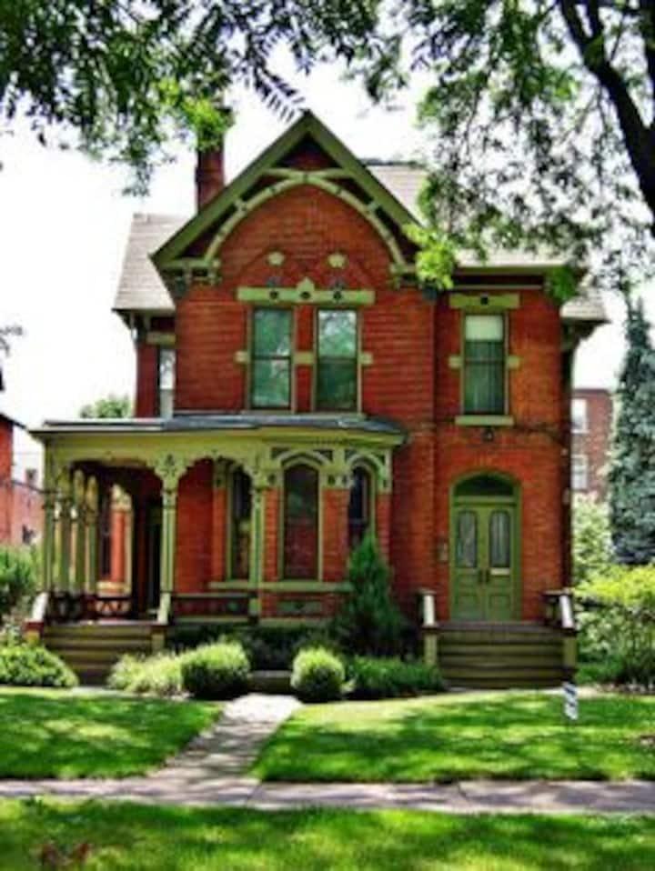 Charming Victorian Apt:  Best Street in Detroit