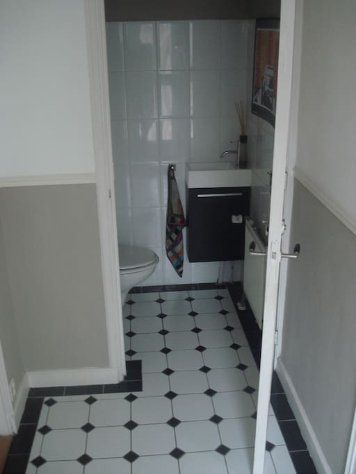Hall with toilet