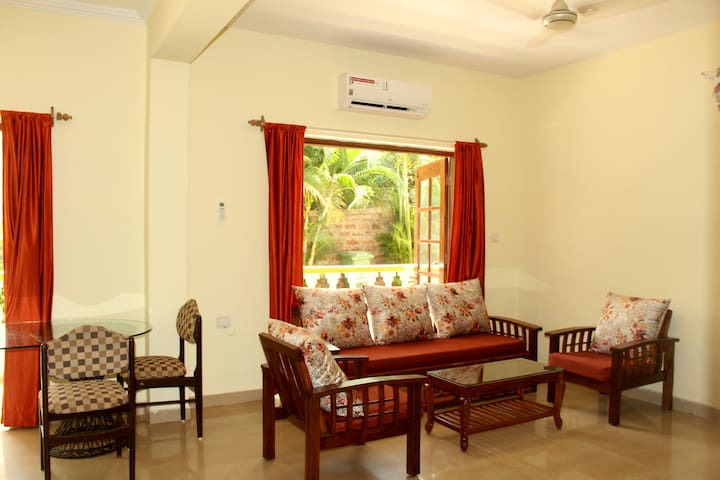 Lovely 2BHK+1BHK Holiday Home With Pool Near Beach