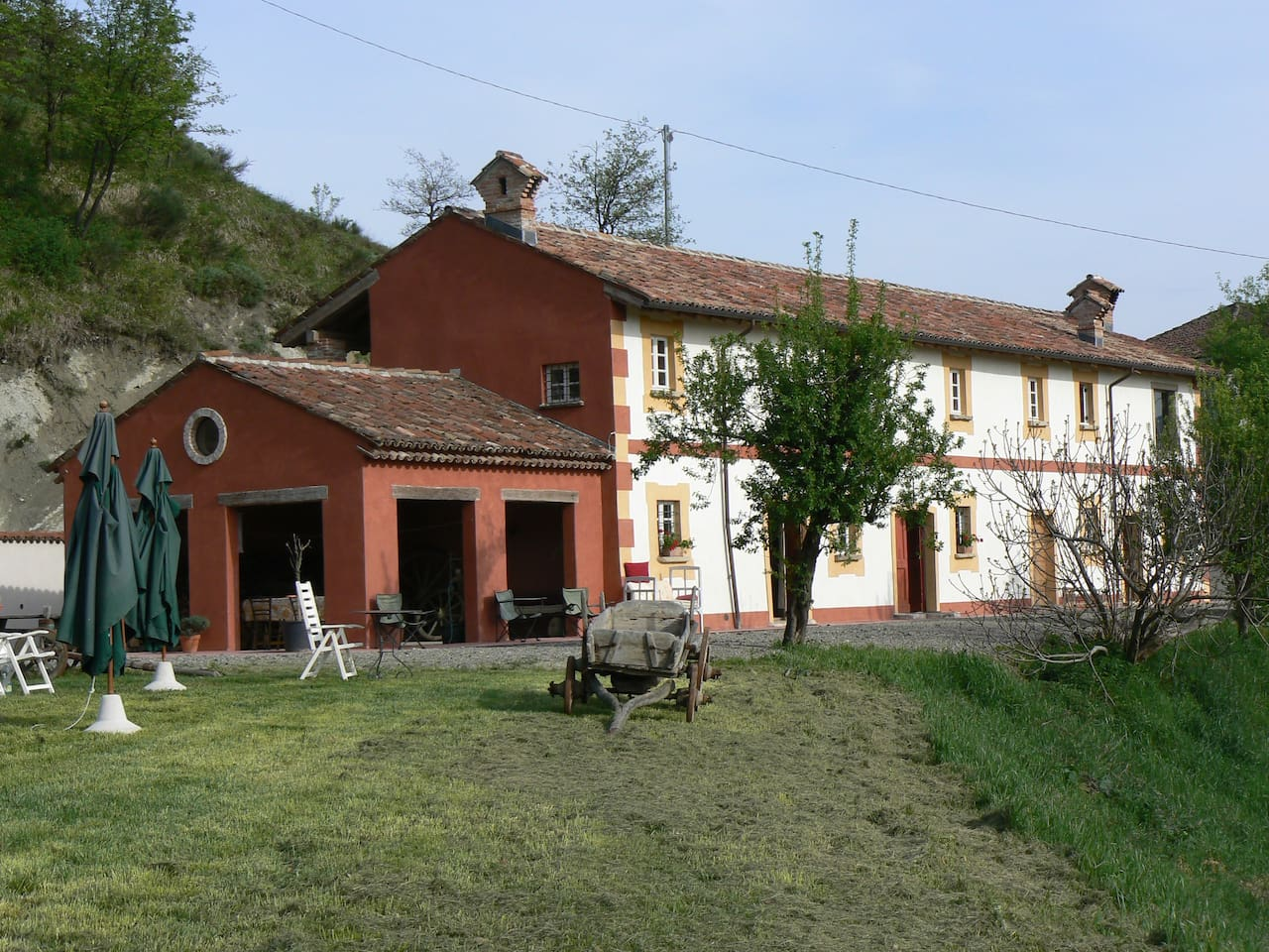La Zerbetta is the apartment in the middle of the house