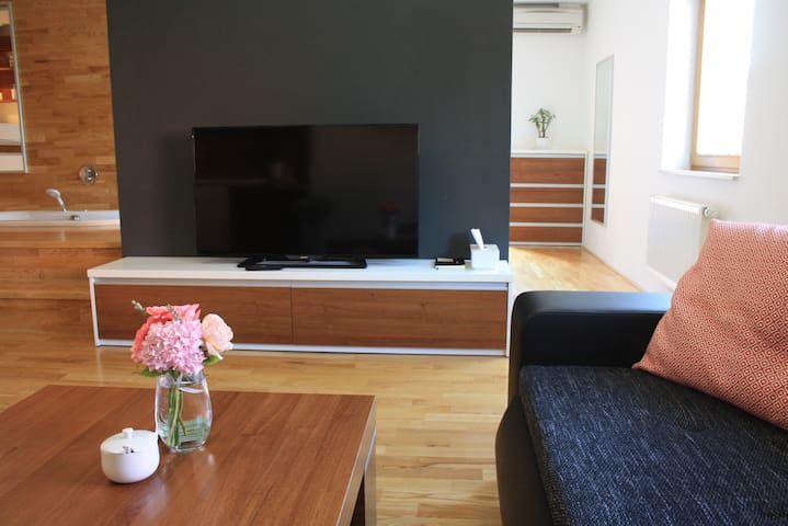 cozy apartment incl. underground garage parking - Brno - Apartemen
