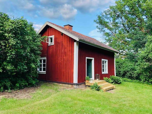 Idyllic cabin near lake
