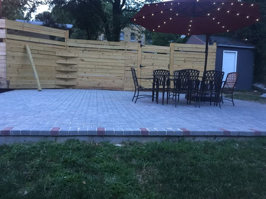 Spacious outdoor patio perfect work serenity and light dinning. Grill available