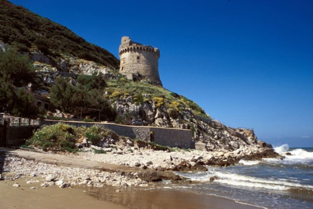 Torre Paola 16th Century Watchtower on the Beach (5 minutes by foot)