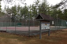 Tennis Court, Volleyball net, Ice rink in Winter