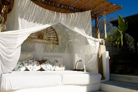 Our Balinese & Ibiza style chillout bed - some guests even sleep here at night time!